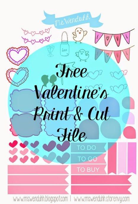 Free Valentines Day Print Amp Cut File Wendaful