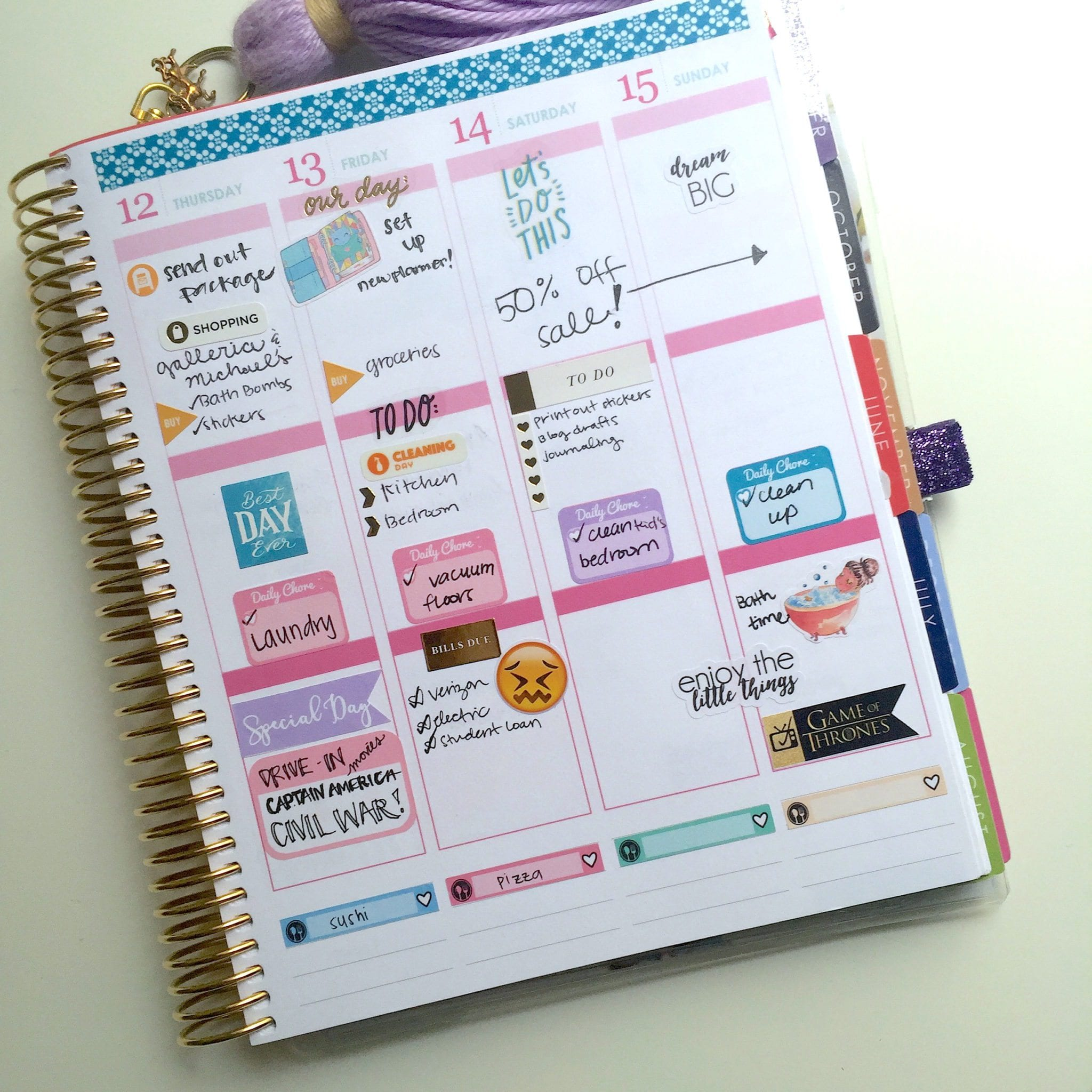 Free daily stickers avery 5428 template wendaful for Create your own planner online
