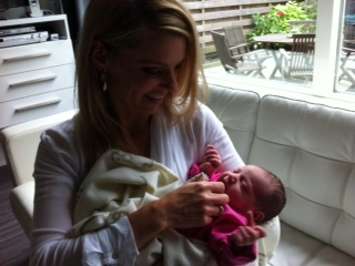 Wendy met baby