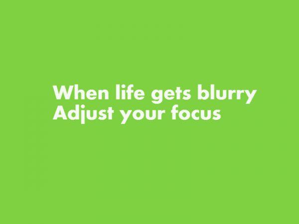 Als je leven ingewikkeld wordt, zorg dan voor focus