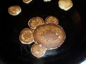 Pawprint pancakes! Perfect for kids who like Blue's Clues.
