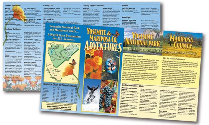 Mariposa Yosemite Tourism Bureau Activities Rack Brochure Interior