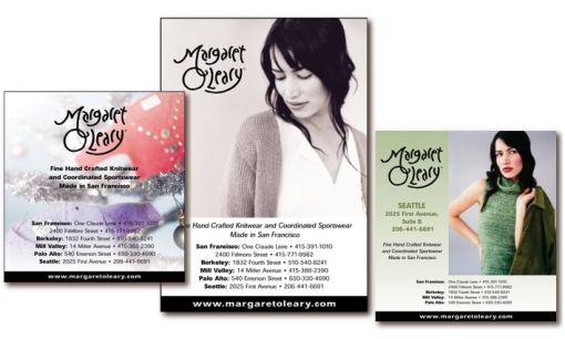 Margaret O'Learly  Direct Mail Post Cards