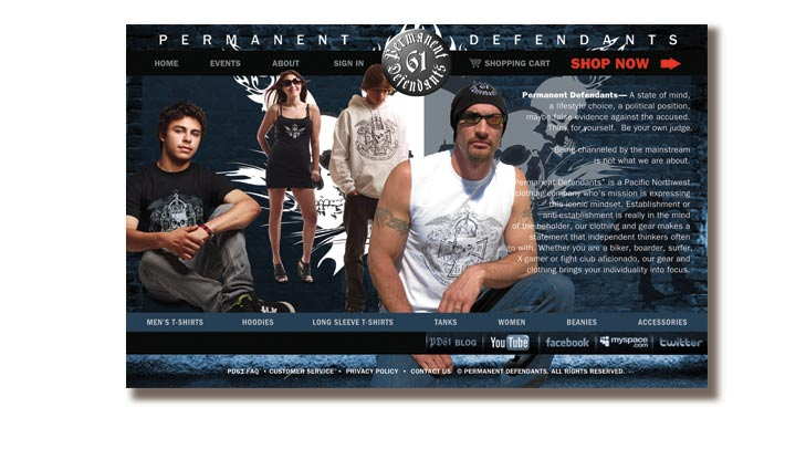 Permanent Defendants Website Splash Page