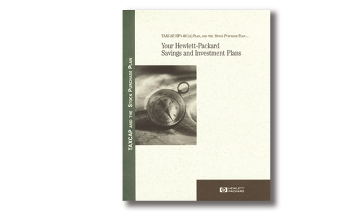 Hewlett Packard Investment/Stock Purchase Package Cover