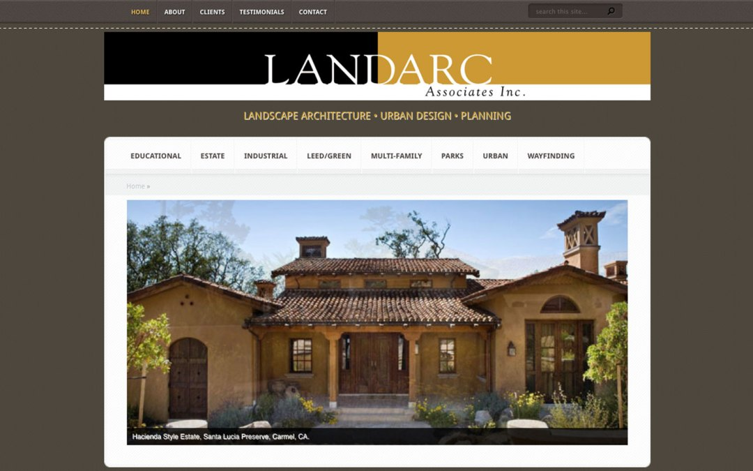 Landarc Associates Inc. Website