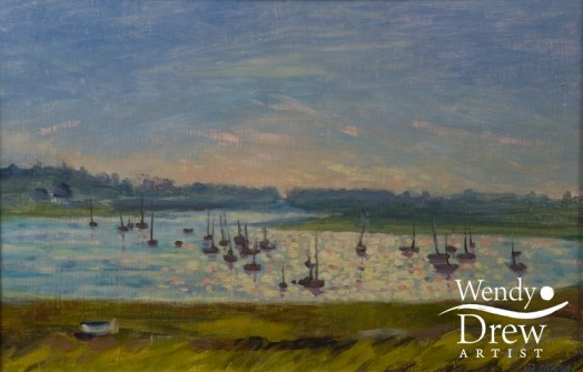 Sunset over the River Alde, Aldeburgh