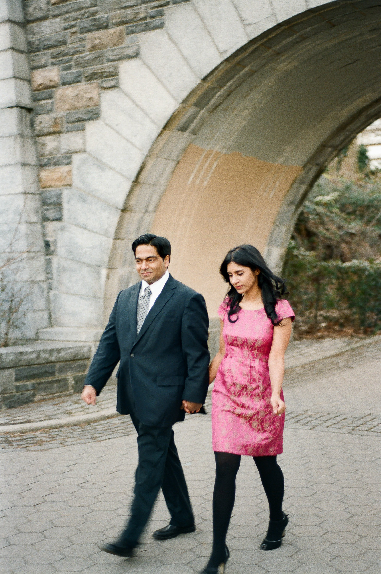 indian engagement session outfit ideas in NYC by wendy g photography