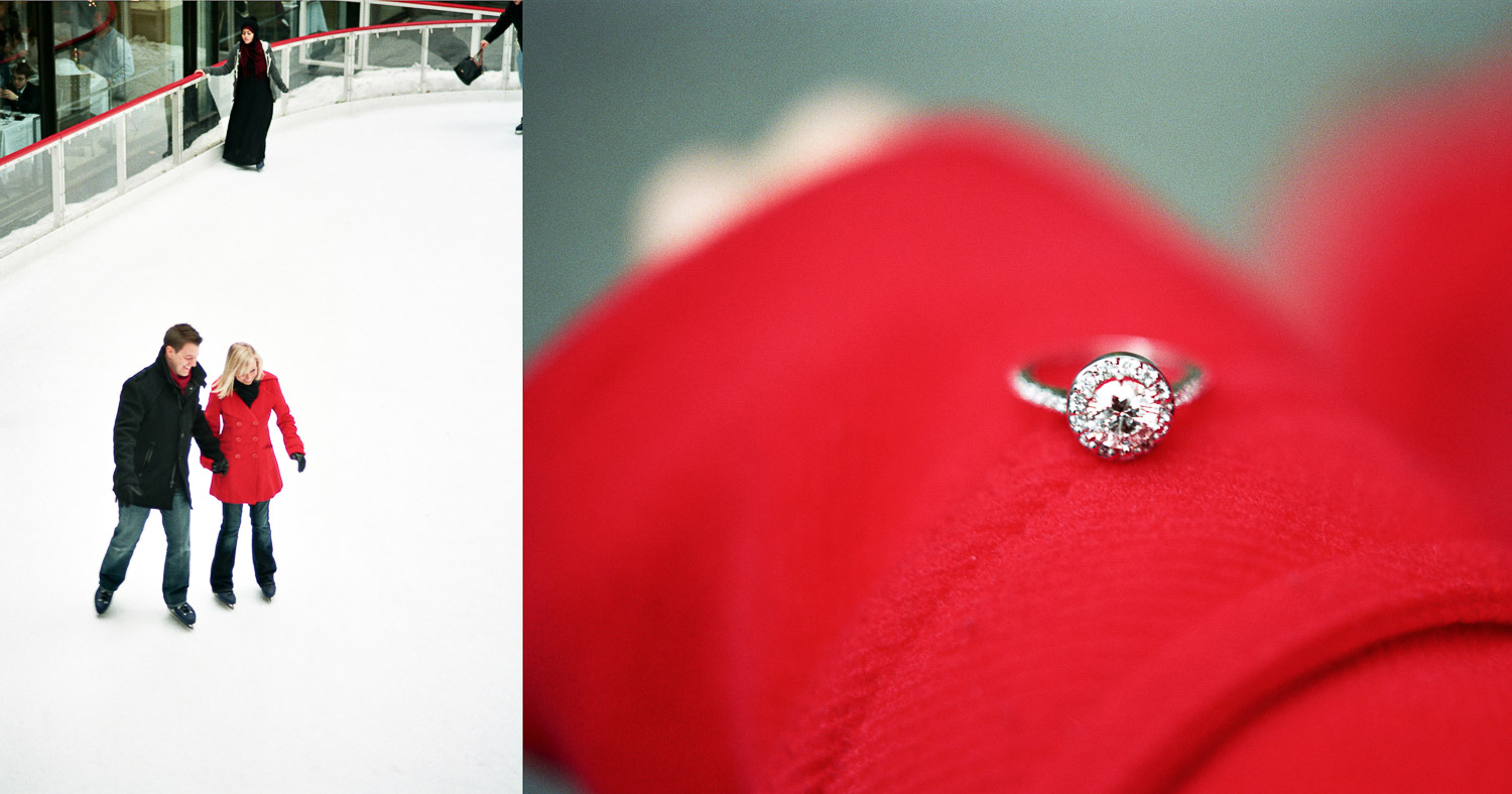 Rockefeller ice rink proposal by wendy g photography