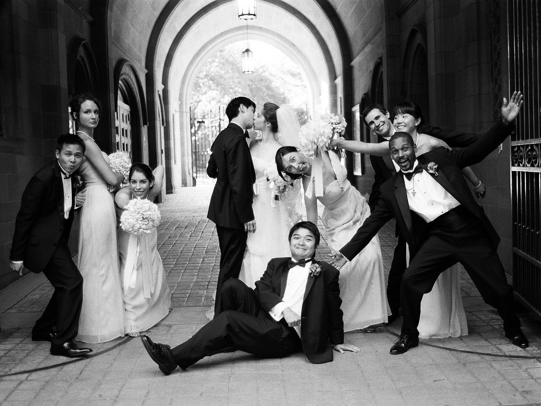 yale wedding bridal party wendy g photography