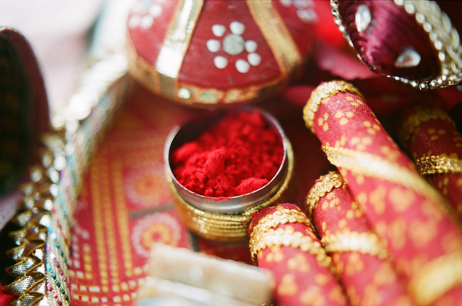 red powder elements for indian wedding