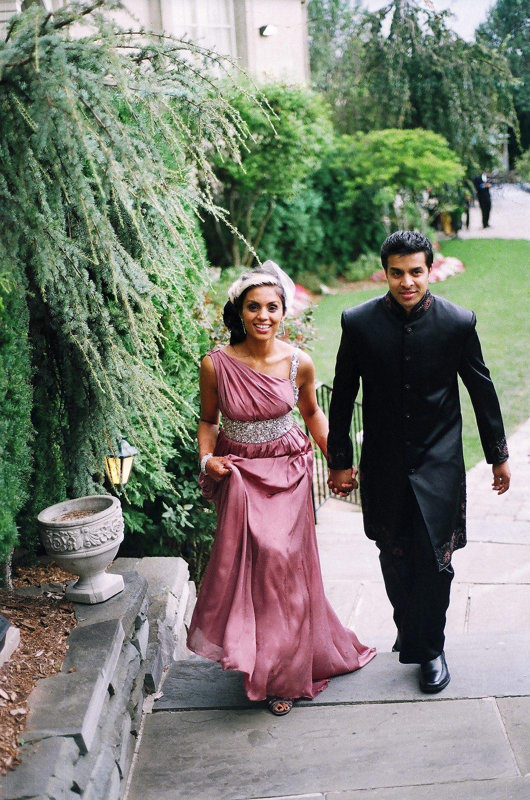 elegant indian wedding couple on fuji film
