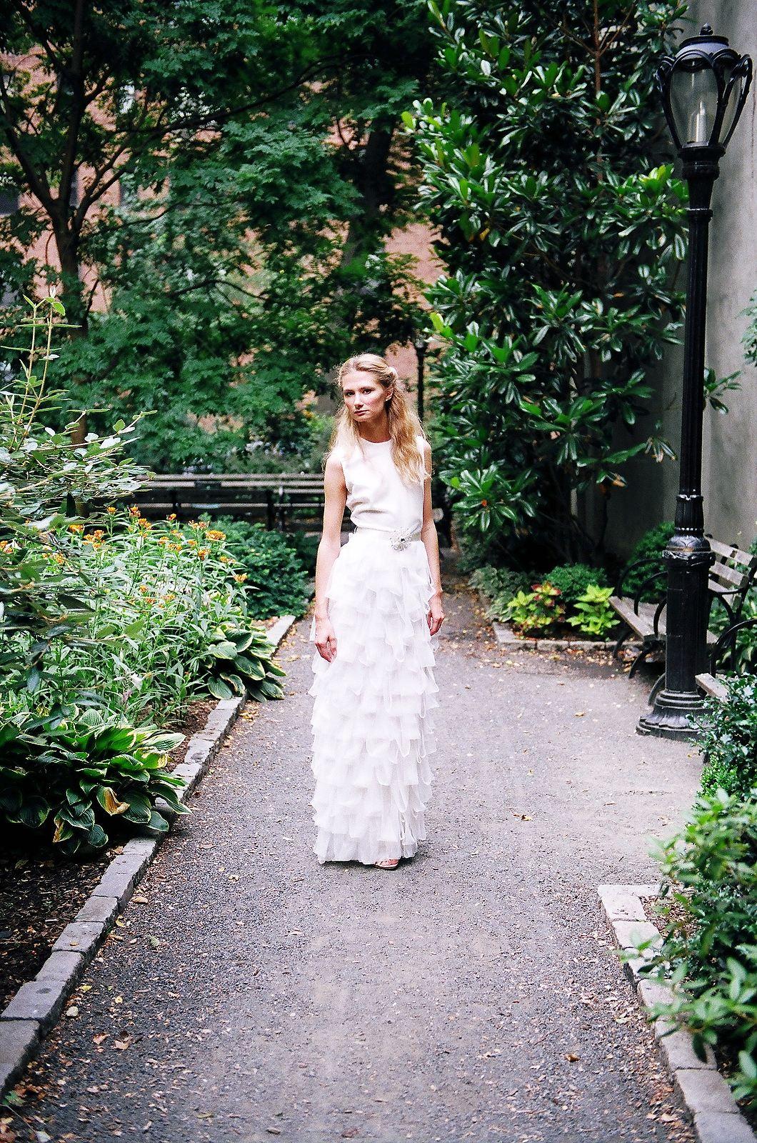 bridal fashion portrait garden nyc