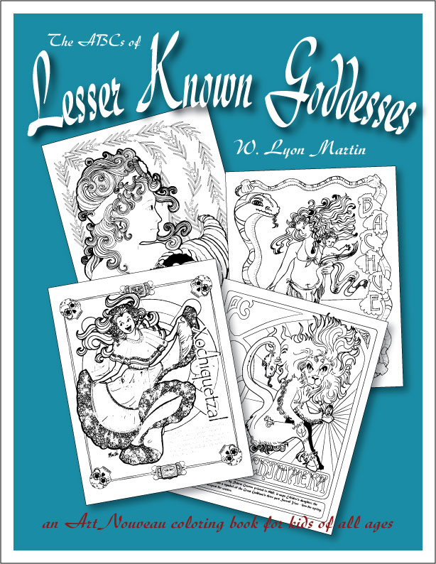 - The ABCs Of Lesser-Known Goddesses: An Art Nouveau Coloring Book For Kids  Of All Ages Emporium