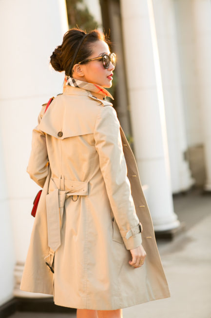 Beige Out  Bow dress  Trench coat  Wendys