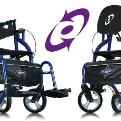Walker Transport Chair In One Hugo Navigator Oversized Corner Reading Airgo Fusion Rollator 935 Wheelchair