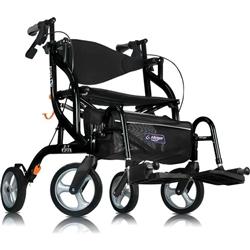 Airgo Fusion Tall Rollator  Transport Wheelchair Rollator