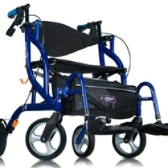 Walker Transport Chair In One Hugo Navigator Whicker Dining Chairs Airgo Fusion Rollator 935 Wheelchair Side Folding