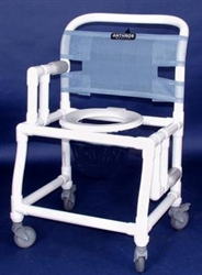PVC Anthros 21 Wide FoldDown Arm Shower Chair with 4