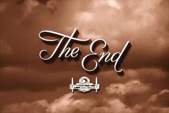 """Picture that says """"The End"""" at end of movie"""
