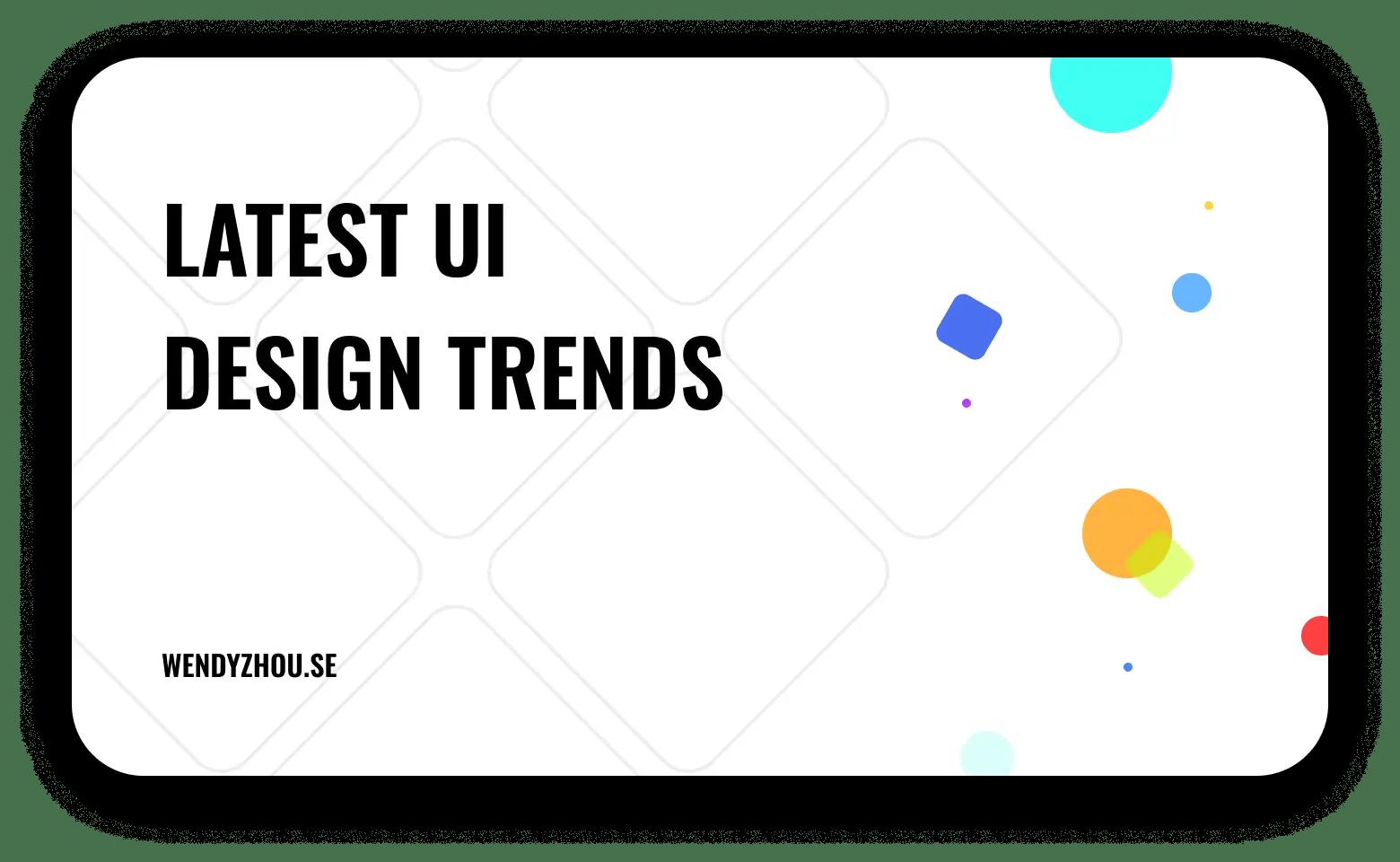 Current UI Design Trends