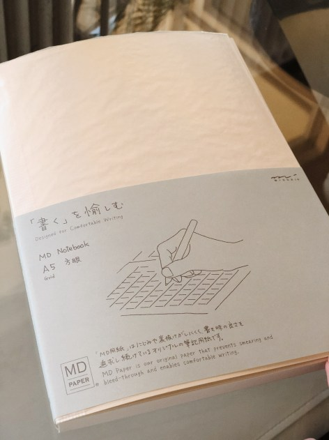 Midori MD grid notebook in A5 - Cover
