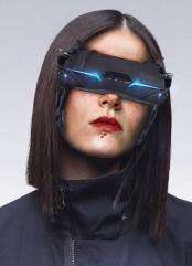 Cyberpunk futuristic glasses & goggles