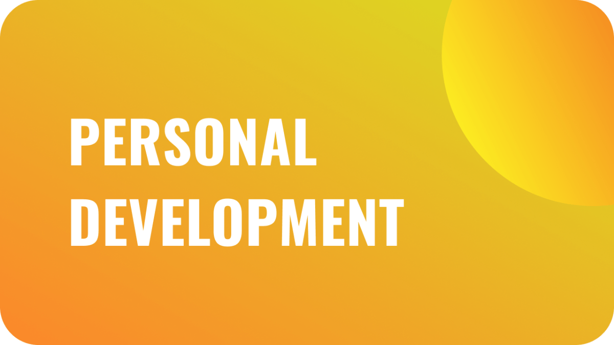 Personal development blog