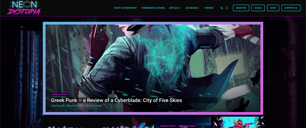 Real Cyberpunk Website Design Inspiration