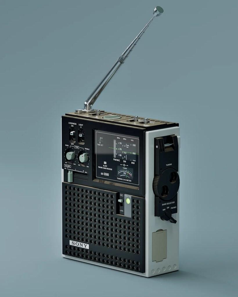 Retro-futuristic radio receiver