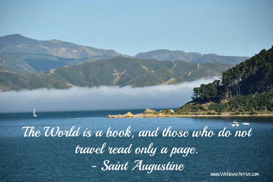 Saint Augustine quote on traveling