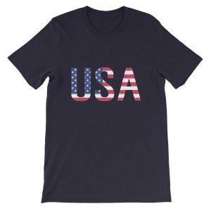 USA America Flag Unisex Short Sleeve T-shirt