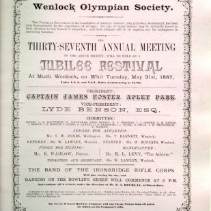 Book number 02 Page 119 Programme for 37th Meeting - May 31st 1887