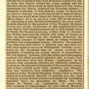 Book number 02 Page 169b Newspaper report of Autumn Festival - October 25th 1890