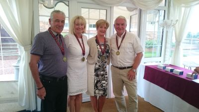 Mixed gold medalists (and highest scoring team): Bill Morris, Sally Weaver, Paulette Morris and Will Weaver