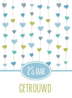 kaartje 25 jarig huwelijk