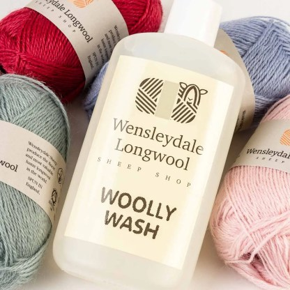Wensleydale Longwool Sheep Shop Woolly Wash product placement