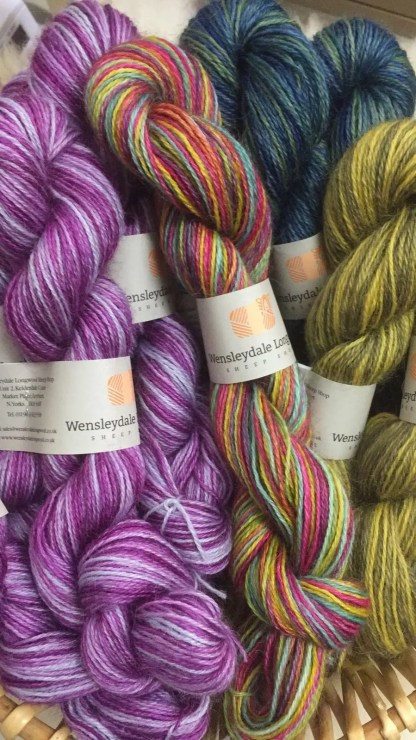 Hand Dyed 4 Ply Wensleydale 3