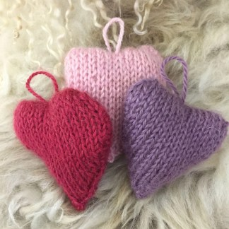 Wensleydale Knitted Hearts