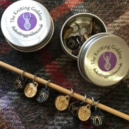 Knitting Goddess exclusive Wensleydale Longwool Stitch Markers