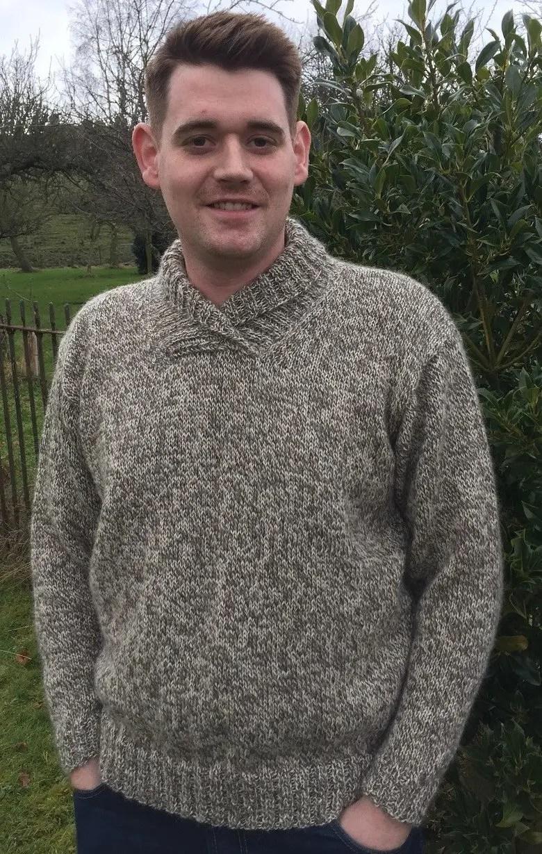 b67ee49c3 Wensleydale Leyburn Shawl sweater pattern