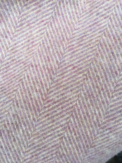 Rug - Throw Herringbone Pink