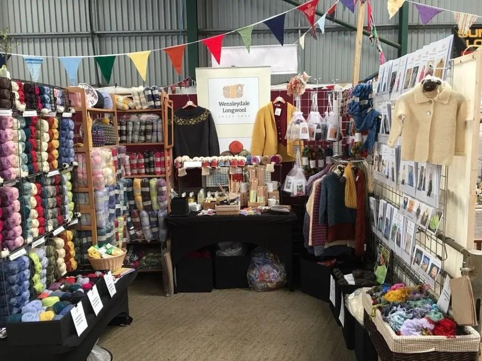 Wensleydale Longwool Sheep Shop stand at Woolfest 2018