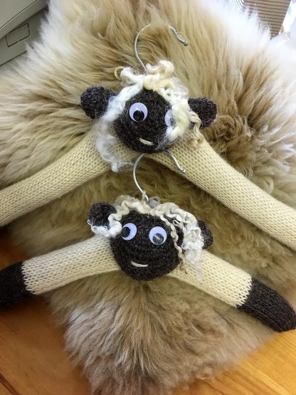 Wensleydale Sheep Coat Hangers