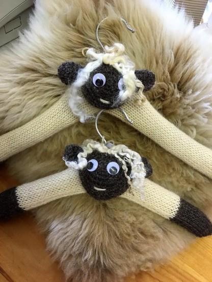 Wensleydale Sheep Coat Hangers