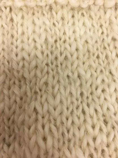 Mohair yarn knit close up
