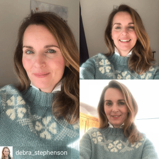 Stanger sweater - Debra Stephenson review