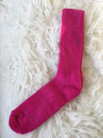 Sheep Shop mohair socks hot pink