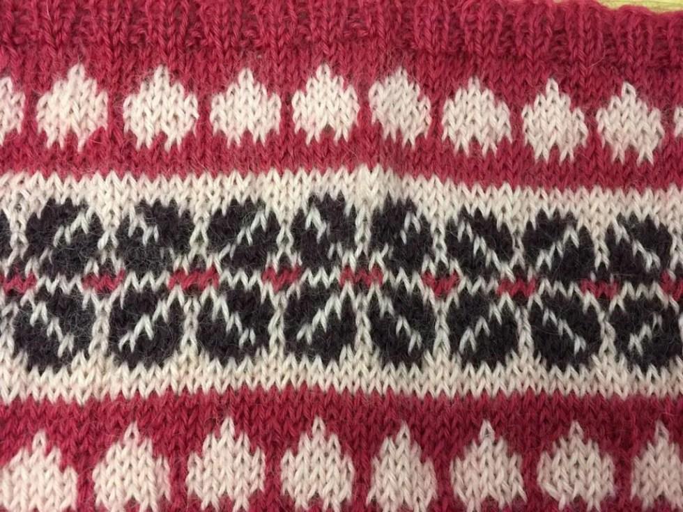 FairIsle knitting example