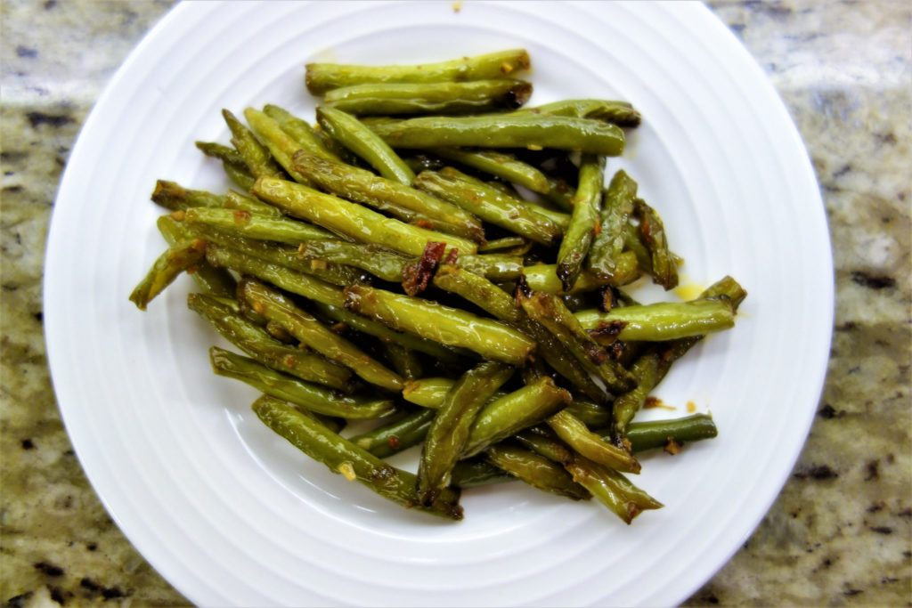Spicy Szechuan Fried Green Beans: Chinese Dishes